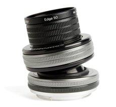 Lensbaby Composer Pro II W Edge 50 Optic - Objetivo con Efecto Sweet para Fuji (50 mm, f/3.2) Color Negro