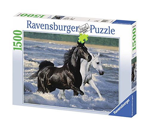 Ravensburger 162765 - Puzzle Cavalli sulla spiaggia, 1500 pezzi