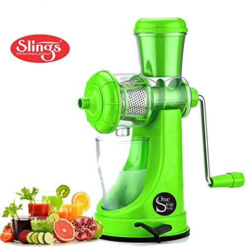 One Stop Shop Slings Fruits & Vegetable Juicer With Steel Handle (Color May Vary)