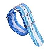 16 millimetri premio colorato stile confortevole NATO eccellente di nylon del polso banda vigilanza del wristband delle donne di sport