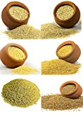 Gowdru Kanaja 3kg Combo of Unpolished 6 Millets - Foxtail, Little, Kodo, Proso, Barnyard, BrownTop, 500g Each