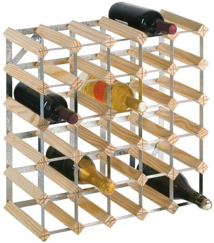 Longlife - Cantinetta per 30 bottiglie, metallic, wood, legno