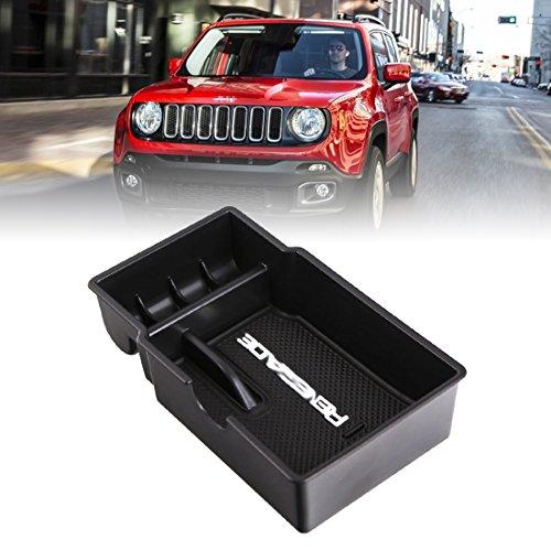 Vano portaoggetti secondario da bracciolo per auto, colore nero e con tappetino antiscivolo