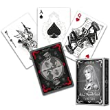 'Alicia en el país de las maravillas Juego de cartas, Silver Edition, Alice of Wonderland + 3 'Look & Feel Barajas de tarjetas de tarjetas, Juego, cartas de póquer, Playing Cards