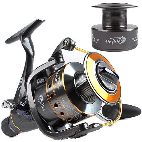 Dr.Fish Hercules-II Pesca di Carpe e acqua salata. baitrunner baitfeeder rullo 10 + 1 di acciaio inossidabile, cuscinetti a sfere 5.1:1 4000-6000 con pezzi di accodamento
