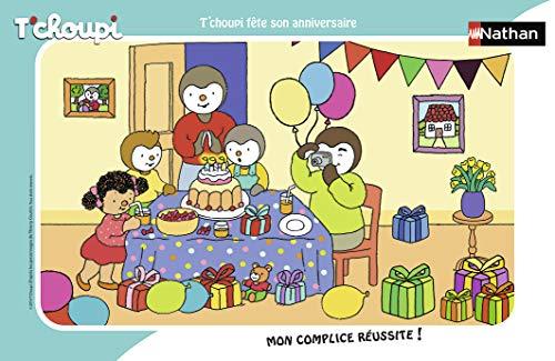 Nathan quadro 15pezzi T' choupi festa Son Compleanno, Puzzle, casse Tete, bambini, GARCON, Gioco,...
