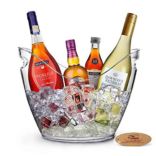 Yobansa 8L Portaghiaccio,Secchiello per Il Ghiaccio,Secchio di Ghiaccio,Secchiello ghiacci, Secchiello per Champagne,Contenitore di Frutta e Verdura(Clear)