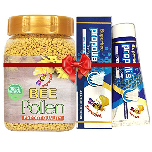 Super bee Bee Pollen Granules (250 g) with Propolis Toothpaste (100g)