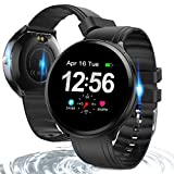 Bluetooth Smart Watch , Health & Fitness Tracker Smartwatch Heart Rate Monitor Blood Pressure Activity Watch ,Sleep-Tracking Calls SMS Notification Remote Camera Music For iOS Android Phone (Black)