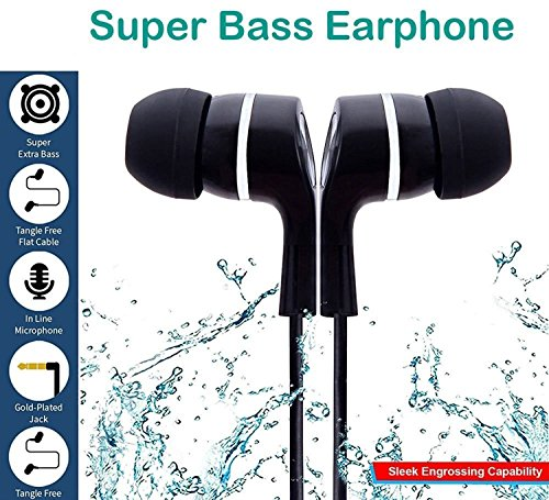 GKP Products ® In Ear Earphone/Headphone With Mic & Super HD Bass Stereo for All Mobile phones Model 410067