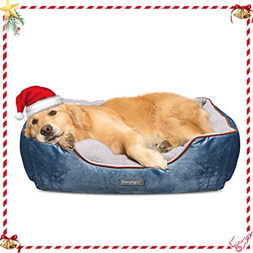 Docatgo Letto per Cani 80x60x25cm, Cuccia per Cane con Cuscino Reversibile, Lettini Comfort per Cani di Grossa Taglia