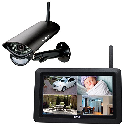 Switel hs2000digitale HD Radio di monitoraggio Set con ampio touch screen del monitor e Telecamera Esterna Resistente alle intemperie, Nero, 2pezzi