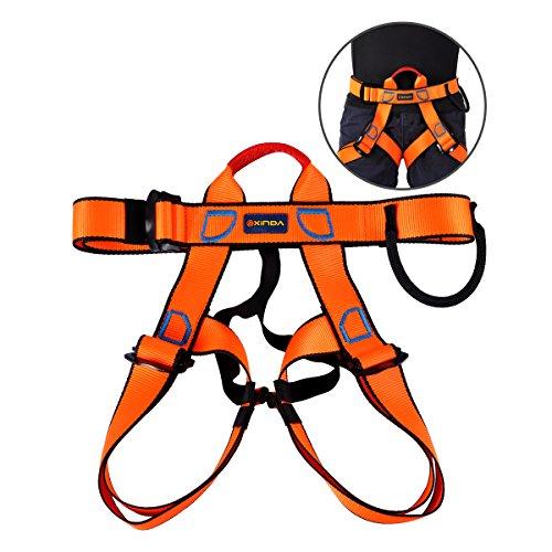 Arn矇s Escalada, Cintur籀n de Seguridad Medio Cuerpo Para Escalar, Monta簽ismo, Rescate de Fuego, Cavaci籀n, Unisex de 1 Pack Negro