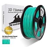 PLA Filament Cyan, 3D Hero PLA Filament 1.75mm,PLA 3D Printer Filament, Dimensional Accuracy +/- 0.02 mm, 2.2 LBS(1KG),1.75mm Filament, Bonus with 5M PCL Nozzle Cleaning Filament