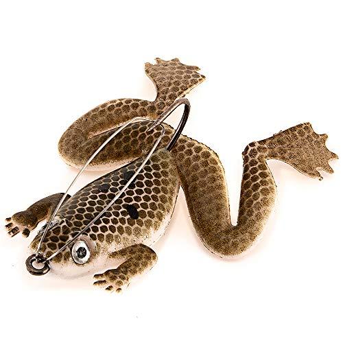 Festnight Richiamo di Pesca Artificiale di Esca di Pesca di 6cm / 5.5g richiamo Molle della Rana di Pesca con Il Gancio