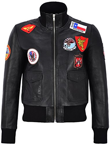 Smart Range Giacca in Vera Pelle Pilota di Air Force Pilot Nuovo Top Gun Ladies Jet Fighter Bomber (UK 18 / EU 44)