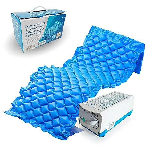 Materasso antidecubito con alternancia di celle e compressore regolabile | modello Mobi 1 | colore:...