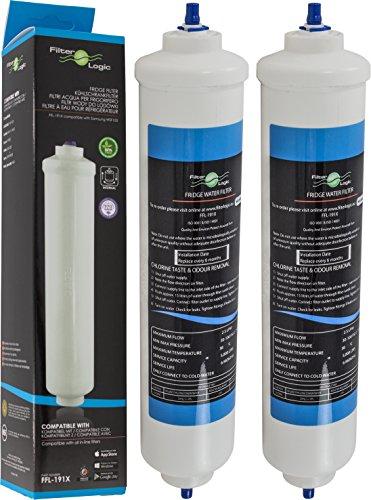 2x FilterLogic FFL-191X - Filtro acqua esterno frigo compatibile con SAMSUNG DA29-10105J,...