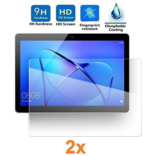 Pack 2X Pellicola salvaschermo per Universal 10', Pellicole salvaschermo Vetro Temperato 9H+, di qualità Premium Tablet, Elettronica Re