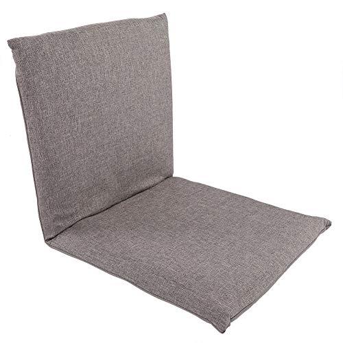 Garosa Bodenstuhl Faltend mit Rückenstütze Einstellbar Bequemes Faules Sofa Tatami für Zuhause Büro(Grau)