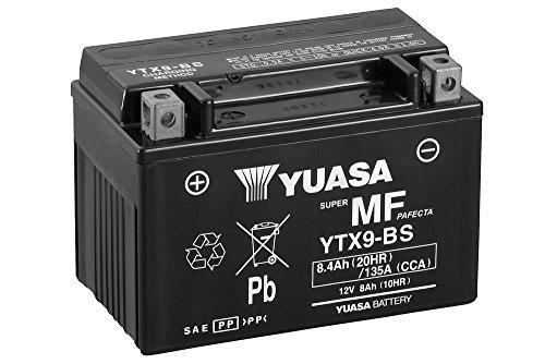 Motorrad Batterie YUASA YTX9-BS, 12V/8AH (Maße: 150x87x105)