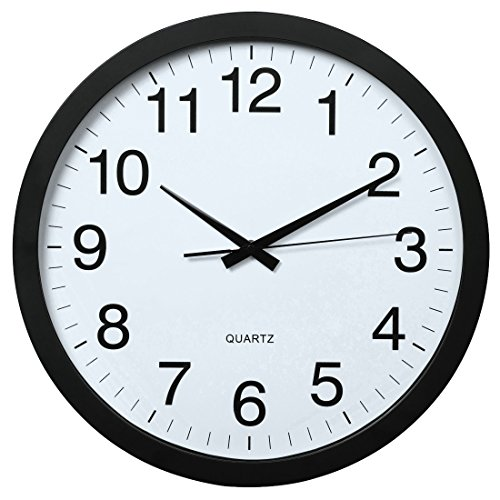 Hama PG-400 Jumbo Quartz Wall Clock Cerchio Nero
