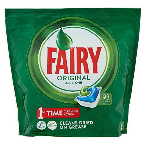 Fairy Original Detersivo in Caps per Lavastoviglie, Confezione da 93 Pastiglie