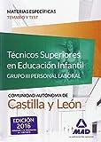 Técnicos Superiores en Educación Infantil de la Administración de Castilla y León (Grupo III Personal Laboral de la Junta de Castilla y León). Temario y Test materias específicas