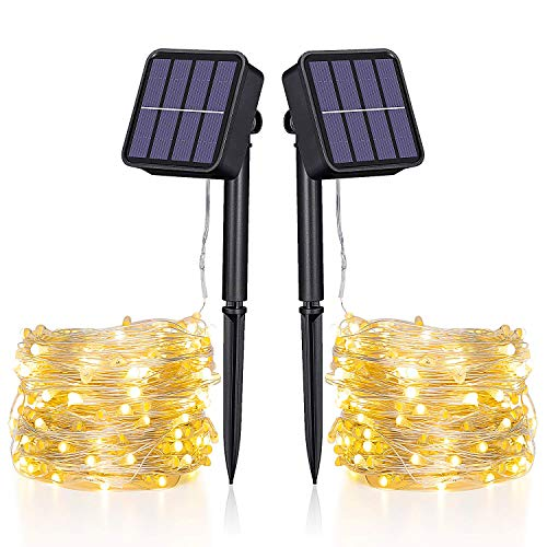 Catena Luminosa Solare - 20M Stringa Luci Solari 200 LED 8 Modi Impermeabili Luci Decorative da...