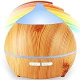 Diffusore di Aromi,250 ml ultrasonico aromatico grana di legno umidificatore d' aria nebbia fresca aroma diffusore di profumo elettrico con 7-couleurs...