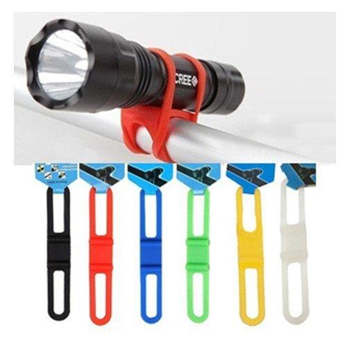 Wadoy MTB Lenkstangen-Halterung für Taschenlampen / Handys, Silikon, 5 Stück