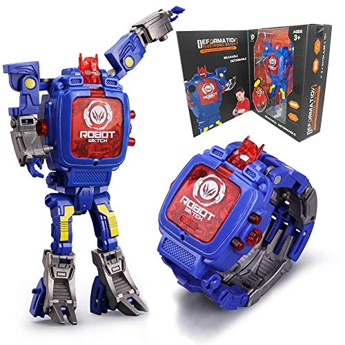 Orologio giocattolo per bambini MMHDZ 2 in 1 Trasformatori elettronici Giocattoli Orologio robot...