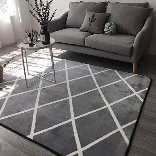 QFF Geometry Carpet, Black White Modern Zerbino Soggiorno Divano Letto Carpet Rectangle Carpet Lunghezza 45-120 Cm Geometria (Colore : F, Dimensioni : 100 * 160CM)
