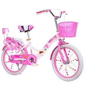 Bicicleta para niños Big Boy 20 Pulgadas Bicicleta de 18 Pulgadas, Primaria, niño y niña Princesa Dos Bicicletas…