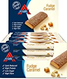 Atkins Chocolate Fudge Caramel, Low Carb, High Protein Snack Bar, 60 g, Pack of 16