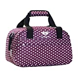 Slimbridge Cabin Carry-On Under The Seat Hand Luggage Travel Bag Ultra Lightweight 35 cm 250 Grams 14 litres with Shoulder Strap for Ryanair Second Bags, Mora Purple Dots