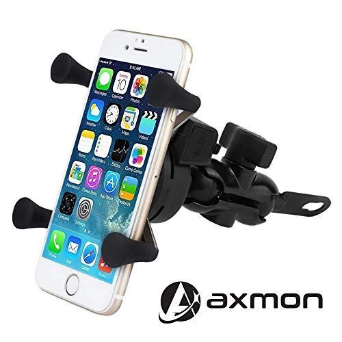 Axmon® Bike Mount Mobile Holder- Universal Adjustable 360 Degree Motorcycle, Scotty Phone Holder Cradle Clamp for All Mobile Phones - Black