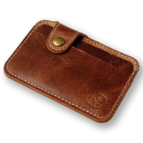 RKPM Unisex Fashion Money Clip Slim Credit Card ID Holder Wallet Leather Mini Clutch Bag (Brown)