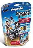 Playmobil 6165 - Pirata con App-Cannon, 1 Pezzo