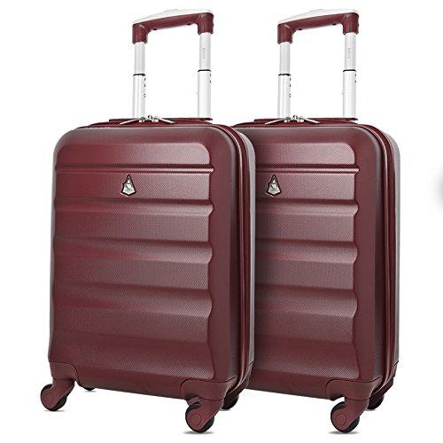 Aerolite ABS Trolley Bagaglio a Mano Valigia Rigida Leggera con 4 Ruote, Approvata per Ryanair,...