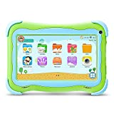 YUNTAB Q91 Tablet infantil de 7 pulgadas (Android 5.1, Quad-Core,Allwinner A33, WiFi, Bluetooth, HD 1024x600, 1+16GB , Tarjeta TF 32 GB, Doble Cámara, Google Play, Juegos Educativos) (Q91, GREEN)