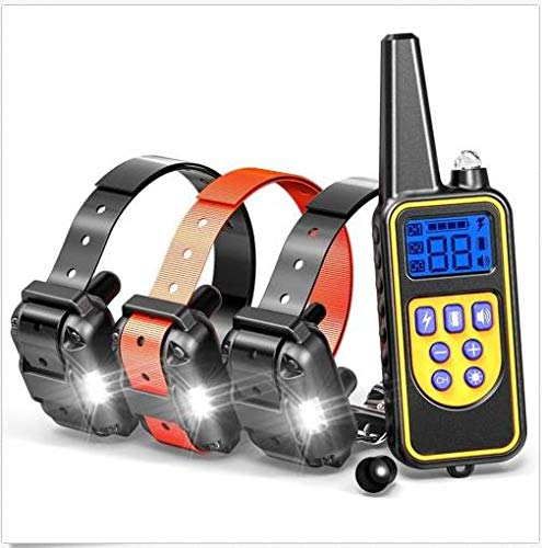 RISHIL WORLD Waterproof Rechargeable Shock Vibration Sound Remote 1/2/3 Dog Training Collar Remote Controller Single Item.