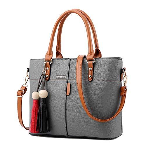 Womens PU Tot Bags, oteawe Women Purses and Handbags Casual Crossbody Shoulder (Gray)