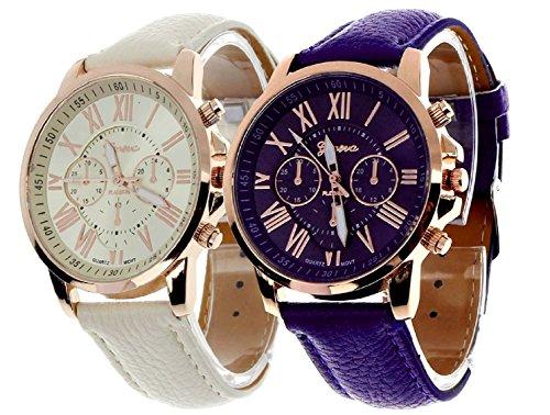 Geneva Platinum Combo Analog Multi-Colour Dial Women's Watch - GP-286