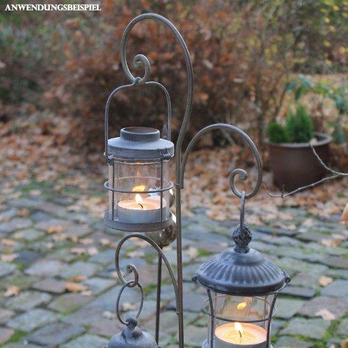 Videx Metall-Gartenstecker Ornament, 120cm, grau-antik