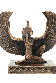Diosa Isis de rodillas y con alas Coleccionables Juliana antiguo Egipto.