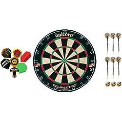 Unicorn Eclipse Pro Dartboard+2 Satz Darts+10 Satz McDart®Flights