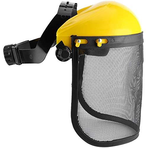 GzxLaY Casco de protección de protección Facial Completa, Casco de Seguridad de Malla, para Motosierra Jardinería Tala Desbrozadora Forestal