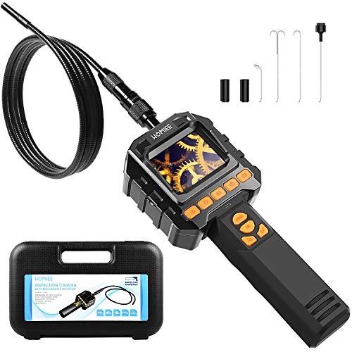 HOMIEE Endoscopio,Videocamera D'ispezione Impermeabile, Supporto 4 Prospettive con 4 LED Regolabile per Ispezioni e Lavori di Riparazione
