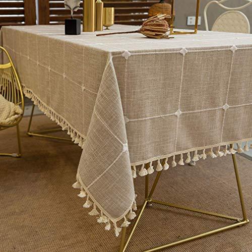 Pahajim Design a Nappa a Scacchi a Prova di Polvere Tovaglia Antimacchia Quadrata per Tavolo...
